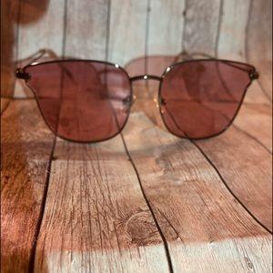 Fashion Nova Gold Pink Panorama City Sunglasses